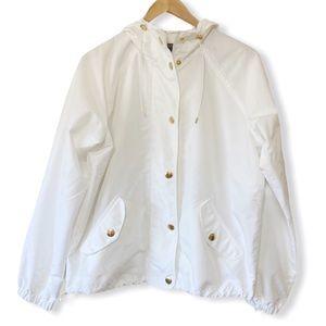 Chaps Women's Wind Breaker Jacket Size Large White